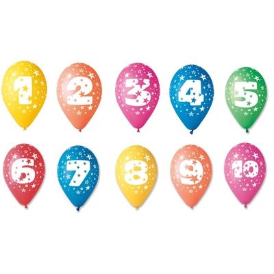 10 Ballons Chiffre pour anniversaire