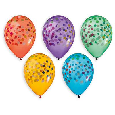 5 Ballons à gonfler Confetti