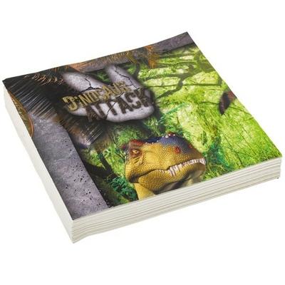 20 Serviettes Dinosaures