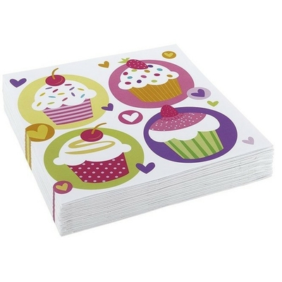 20 Serviettes Cupcakes