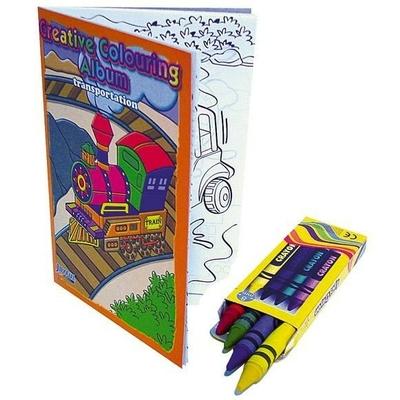 Album de Coloriage avec Crayons Cire
