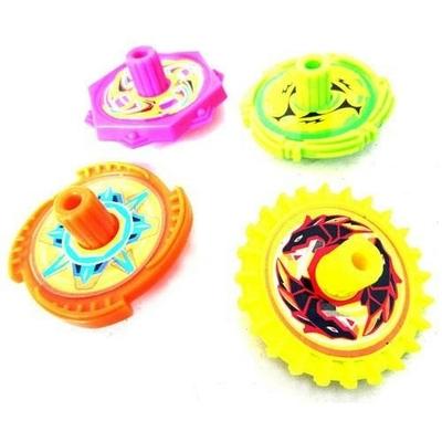 Toupie Colorée Jaune, Rose, Orange ou verte