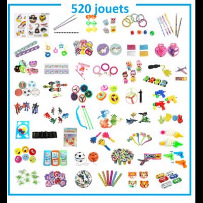 Lot de 520 jouets pour pêche à la ligne kermesse