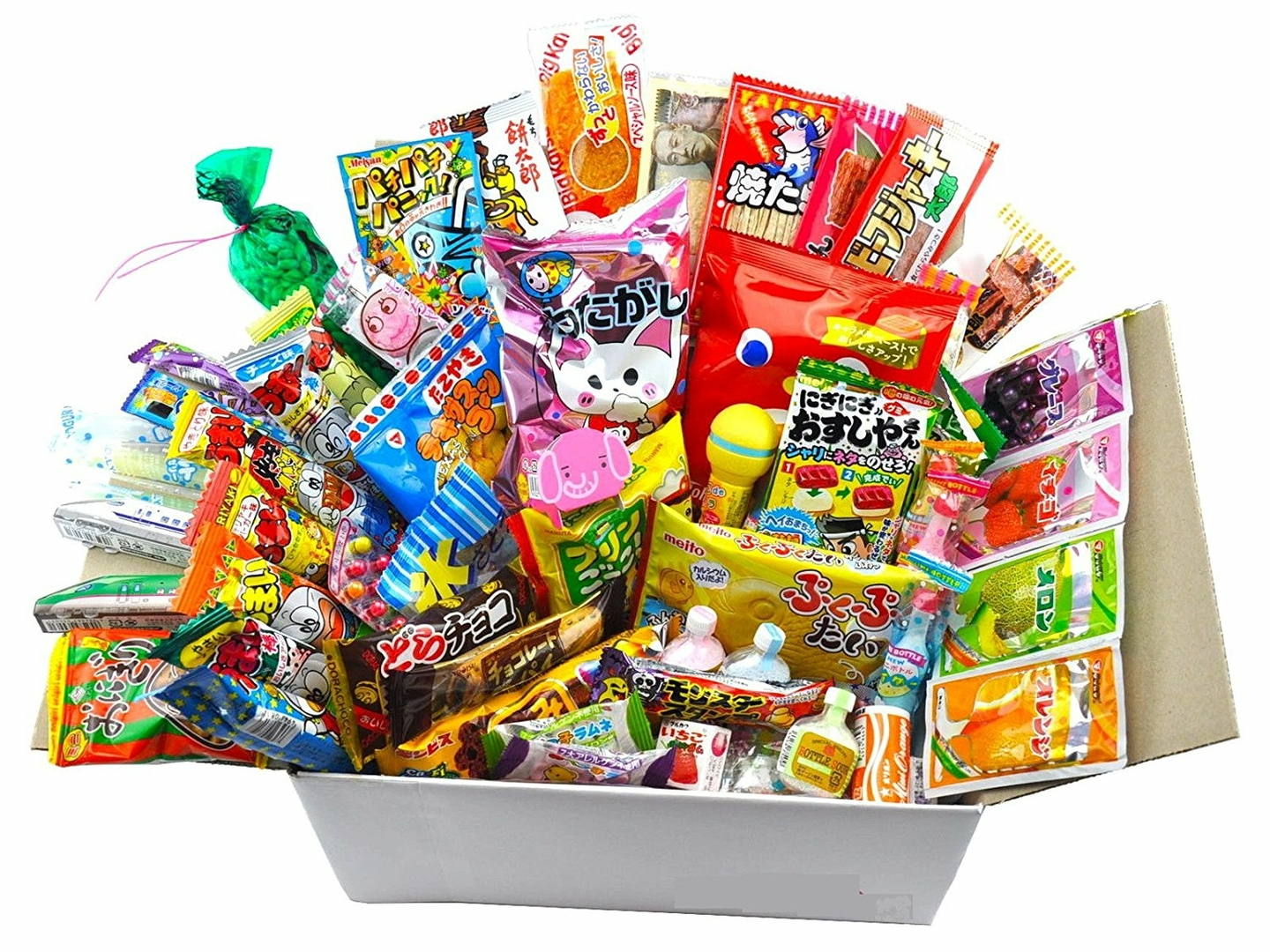 lot de 50pcs x snacks bonbon japonais import japon box pas cher kit melange confiserie. Black Bedroom Furniture Sets. Home Design Ideas