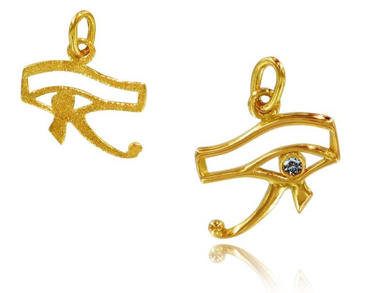 Pendentif Oeil Horus Diamant et or