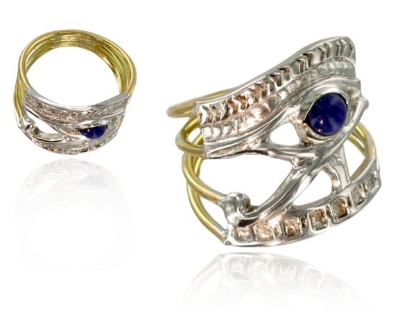 createur-de-bijoux-bague-horus-or-lapis-lazuli
