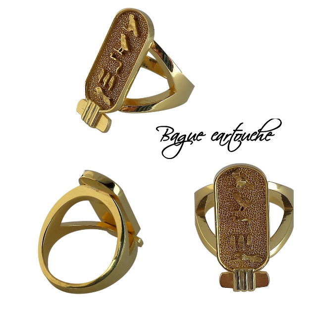 Bague cartouche or - Collection OR - Bagues