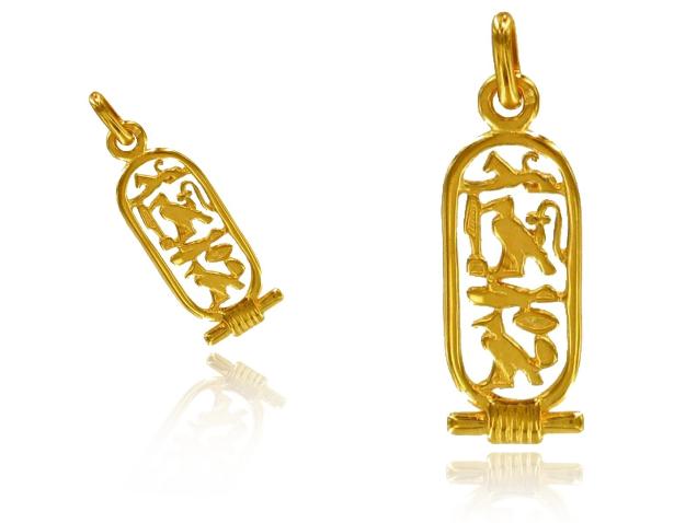 Créateur De Bijoux Pendentif Cartouche Égyptien Or