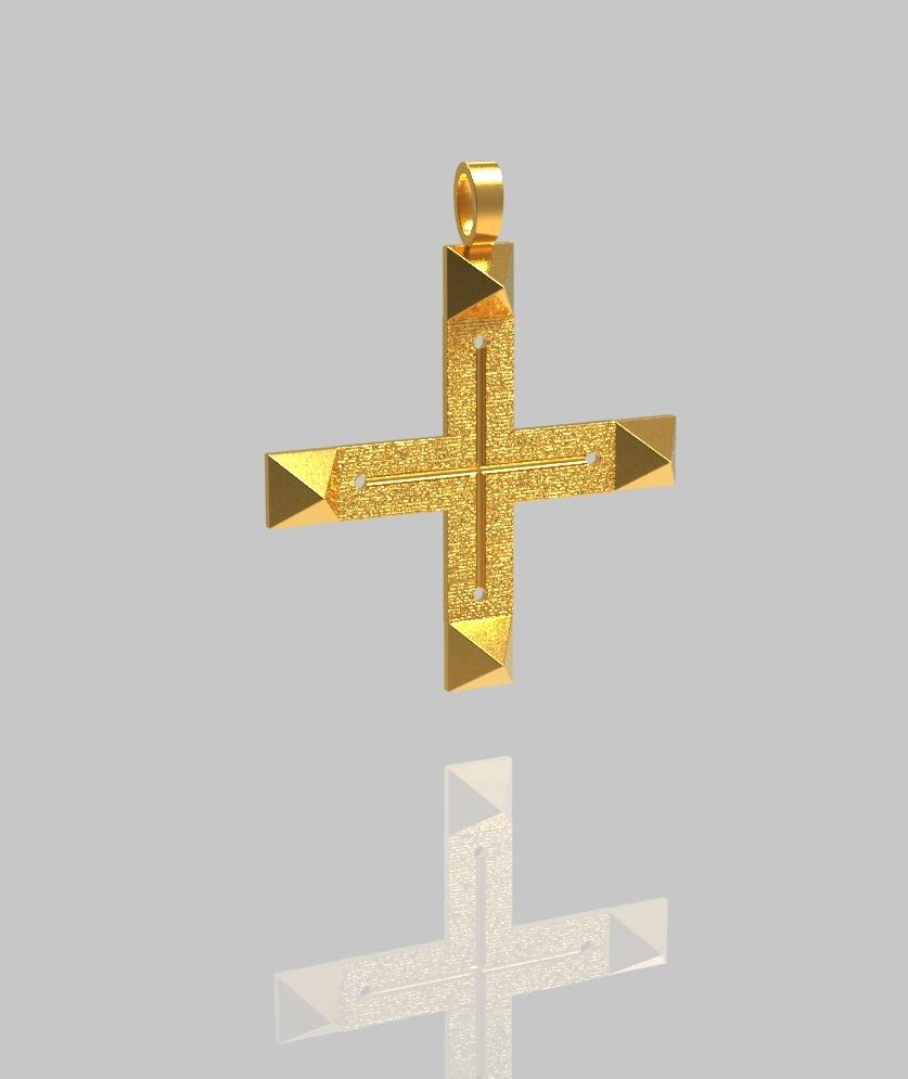 Croix ATLANTE vermeil