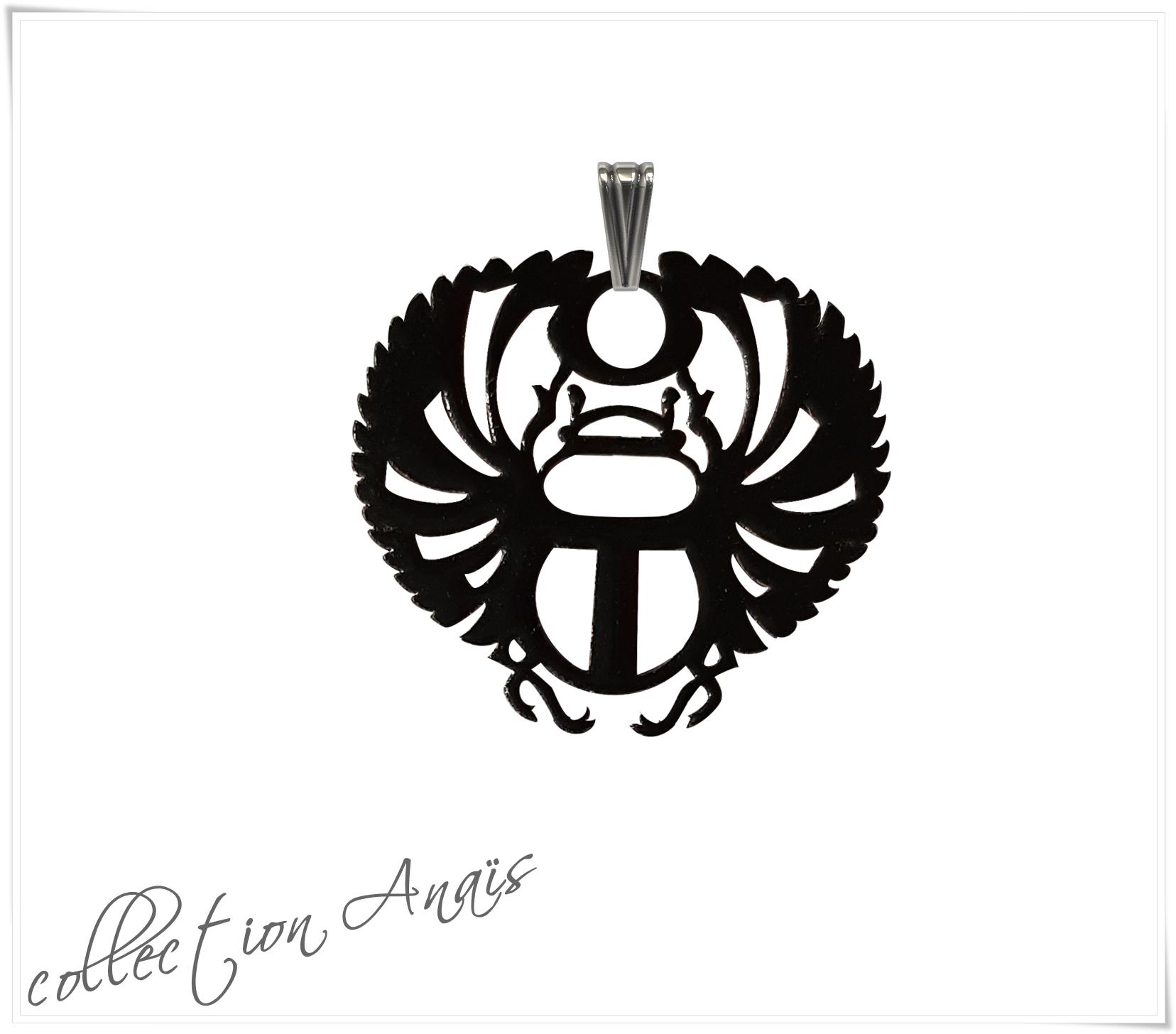 Collection ANAIS-scarabee-ajoure-noir