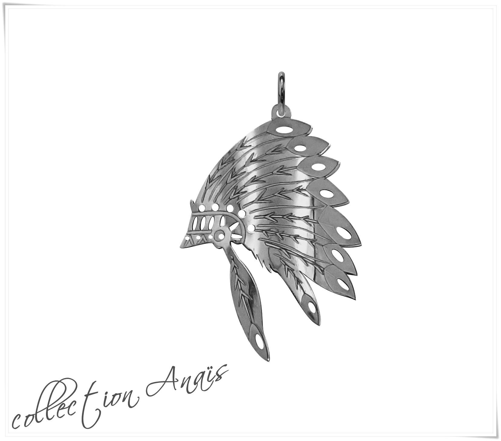 Pendentif coiffe Amérindienne