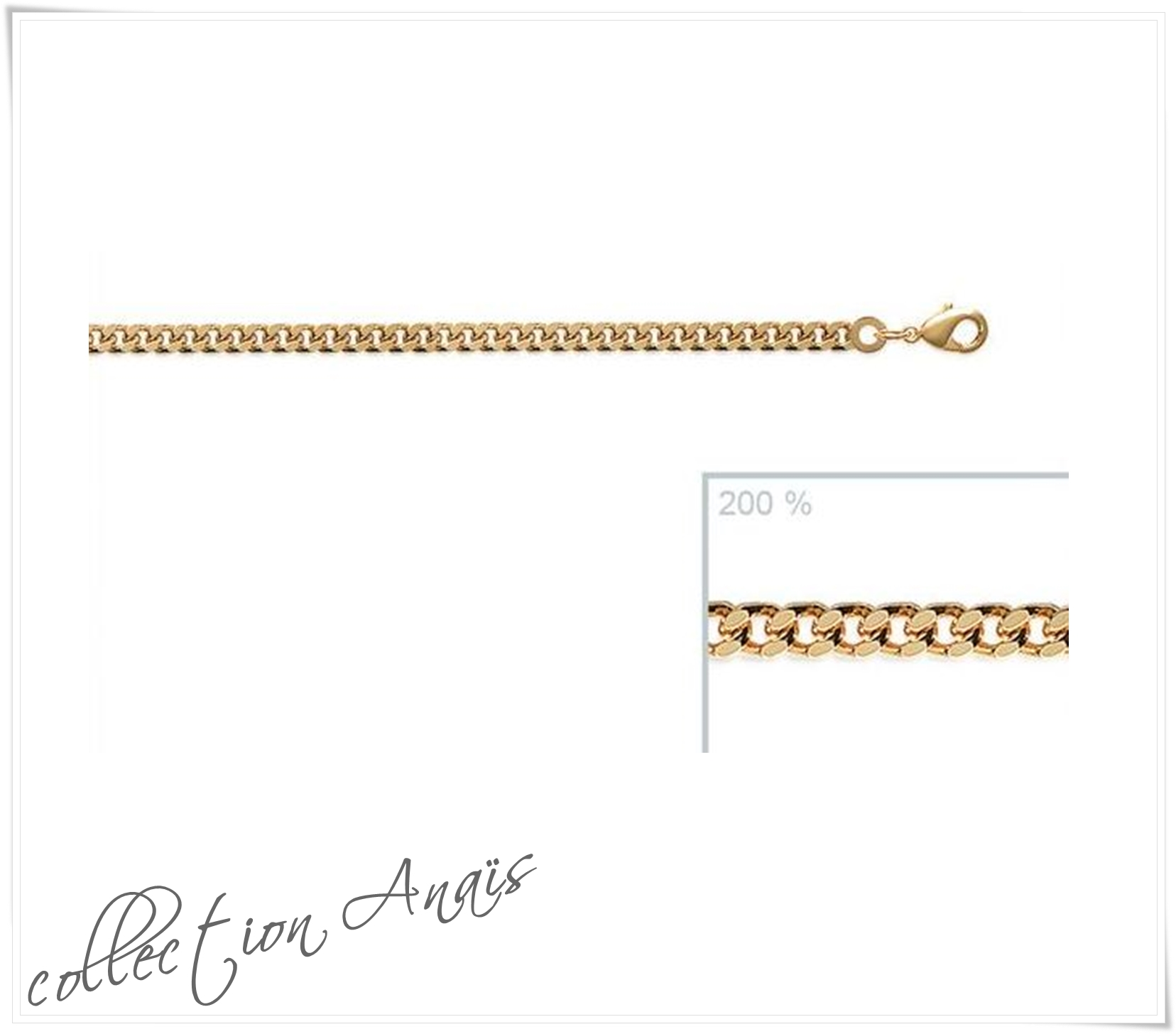 collier chaine maille gourmette
