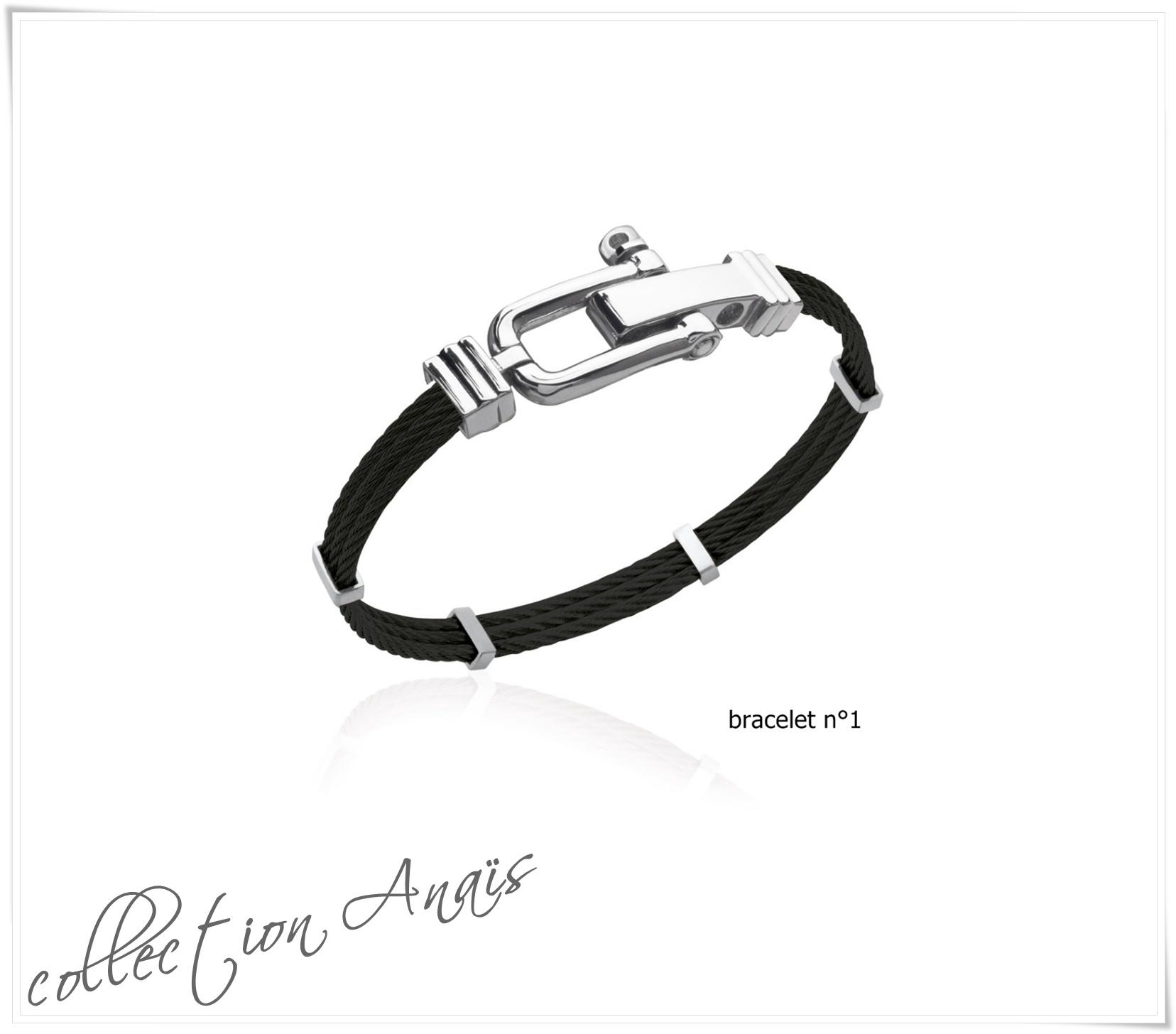 Bracelet jonc rigide en acier