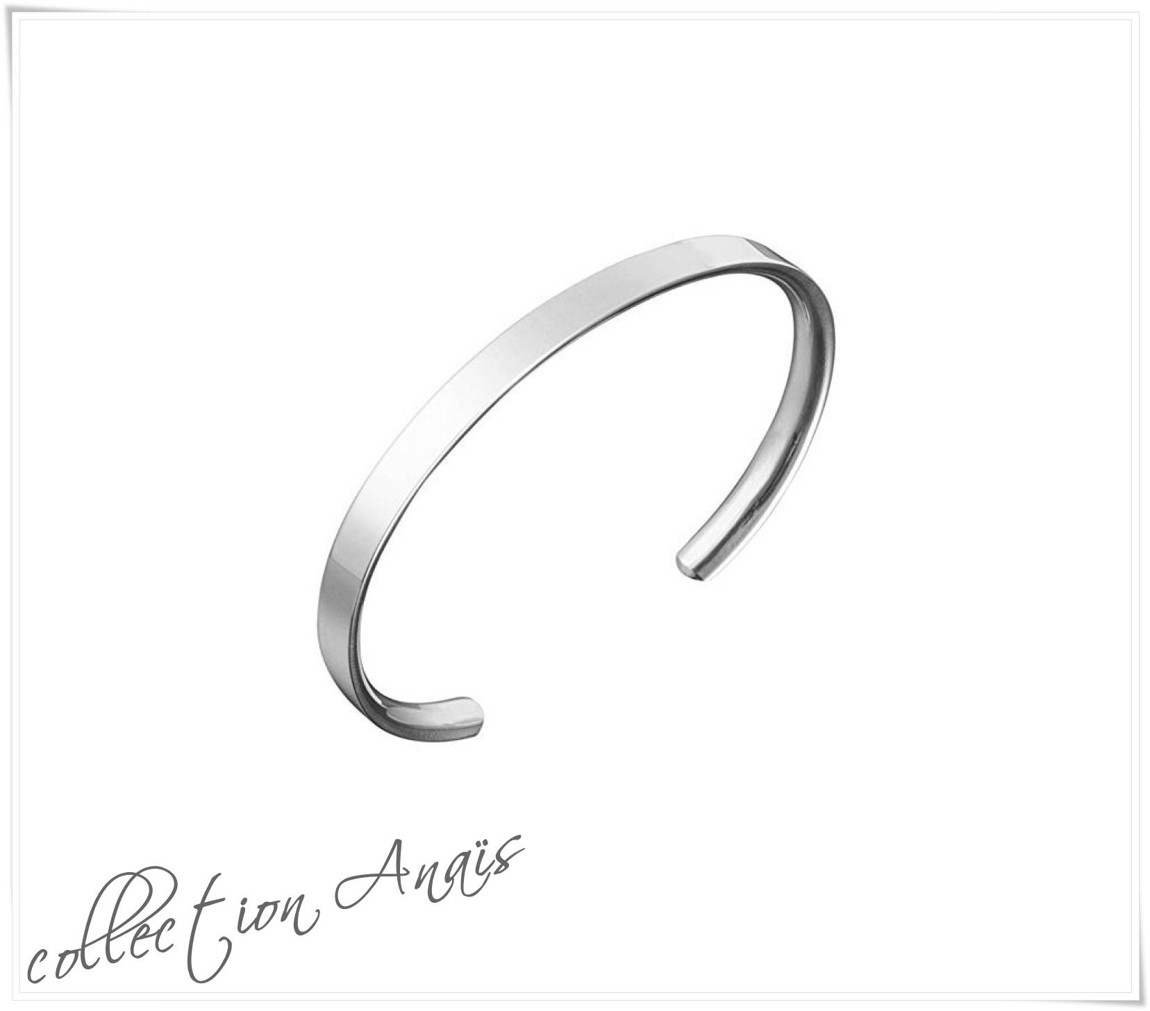 Bracelet jonc semi rigide