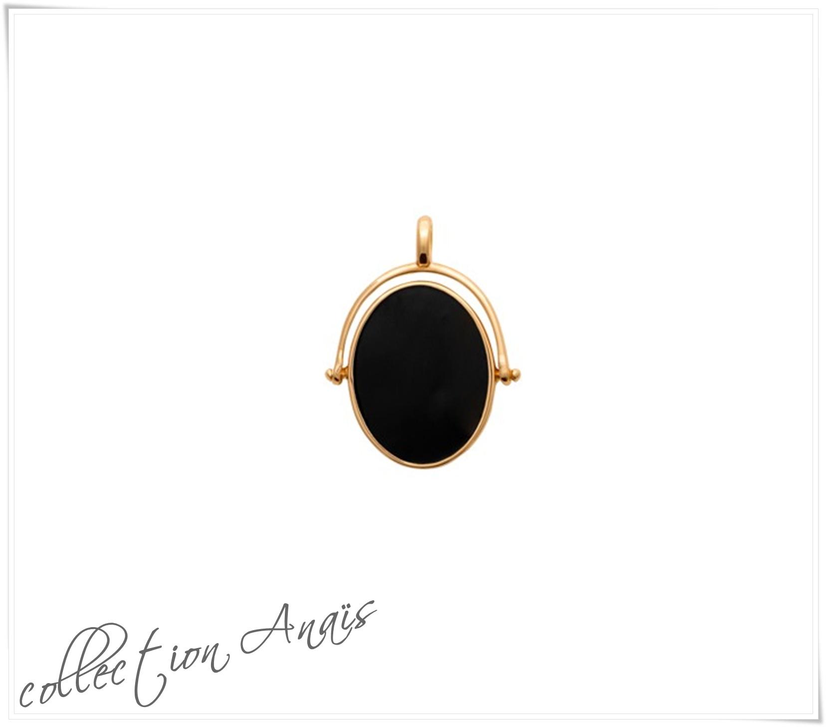 Collection ANAIS-pendent-plaqué-emailnoir