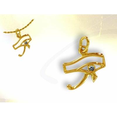 Pendentif  Or et Diamant Oeil Horus