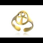 Créateur De Bijoux Bague Or Croix De Vie Pierres Fines(2)