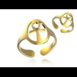 Créateur De Bijoux Bague Or Croix De Vie Pierres Fines(3)