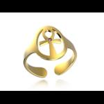 Créateur De Bijoux Bague Or Croix De Vie Pierres Fines(1)