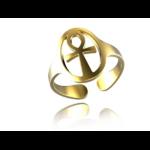 Créateur De Bijoux Bague Or blanc, jaune ou rose Croix De Vie Auto-Réglable(2)