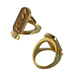 Bague cartouche or - Collection OR - Bagues(1)
