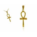 croix ankh bronze dorée