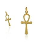 croix ankh or jaune 18 K par Michel Comte artisan joaillier créateur _ FRANCE