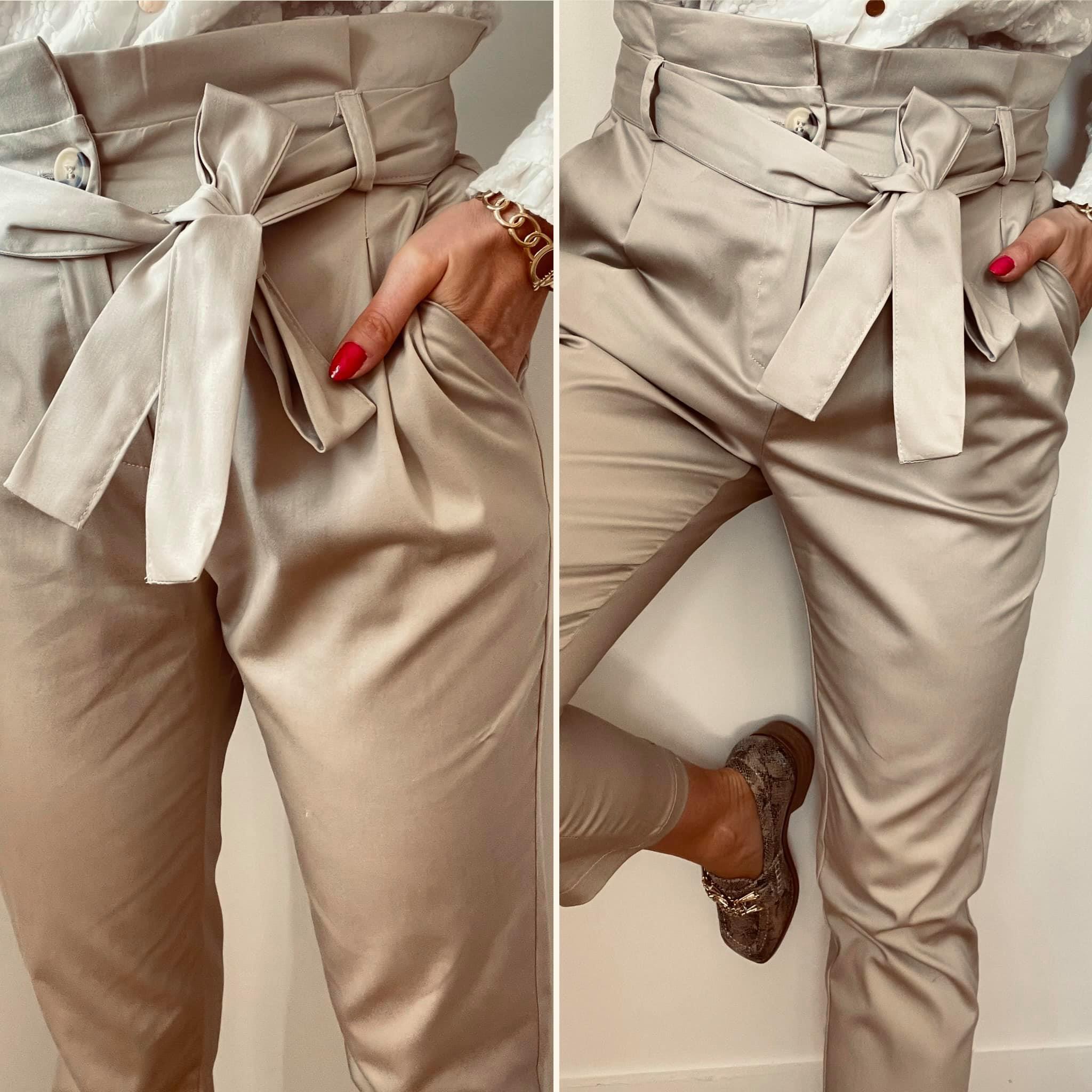 SAM-Pantalon beige fabriqué en FRANCE