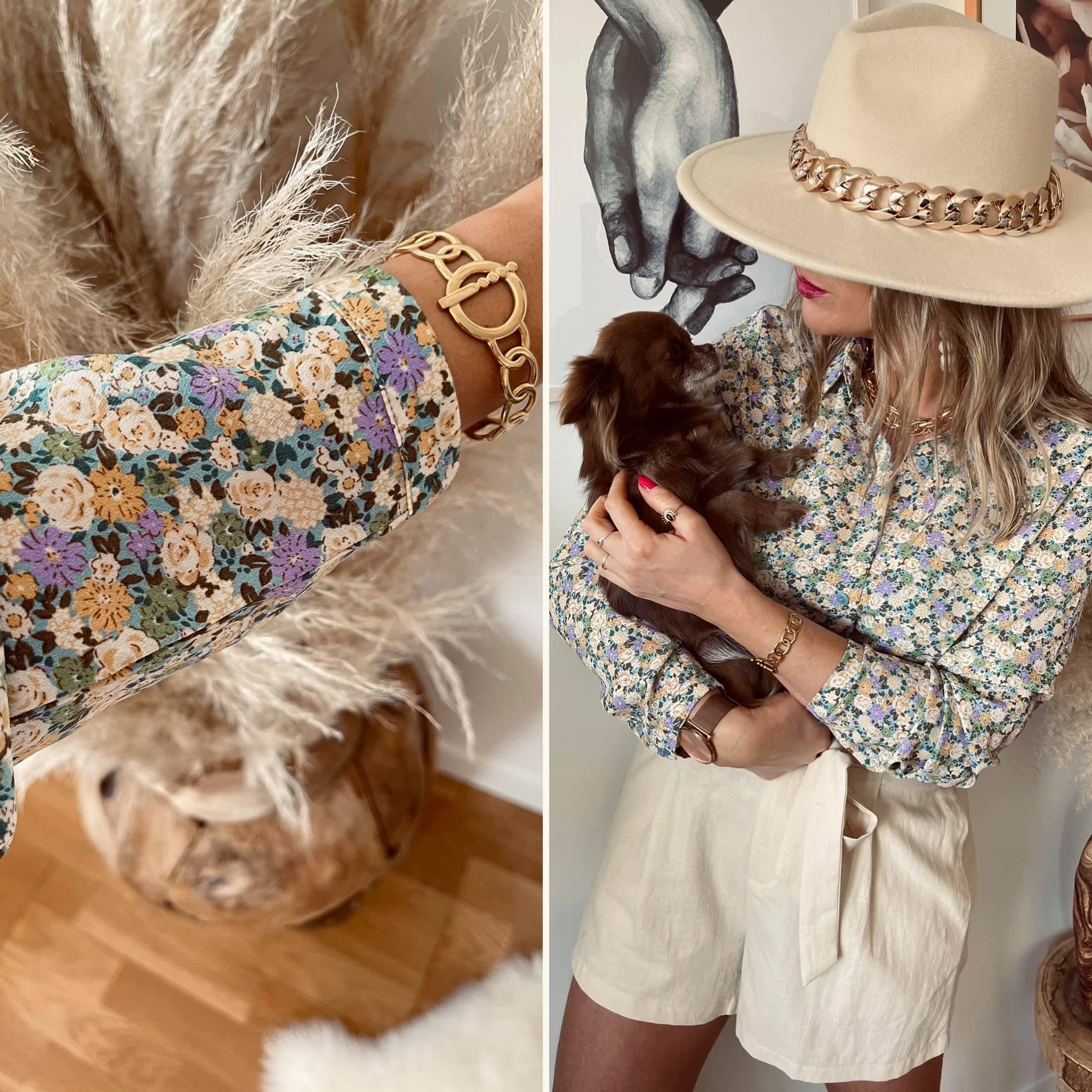 Capri-chemise fleurie