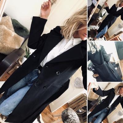 Long Manteau Edma noir