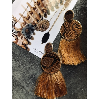 Boucles Moliere camel/moutarde