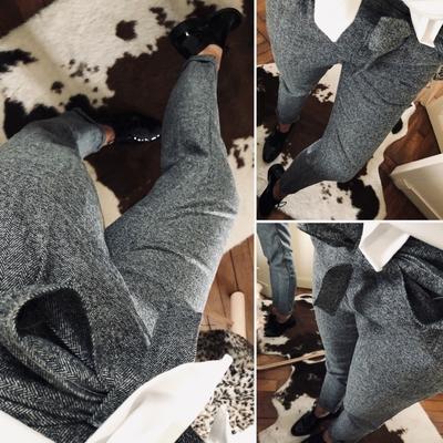 Pantalon Carl gris chiné