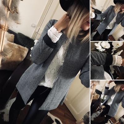 Veste Jeanne gris chiné