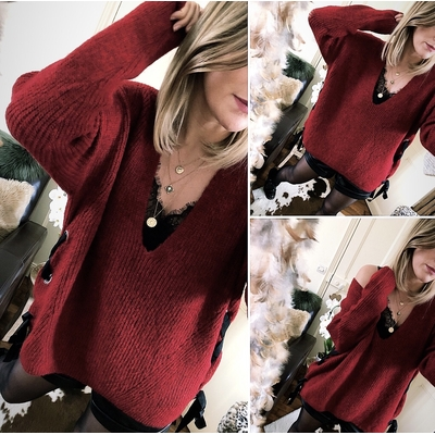 Pull Sybille rouge