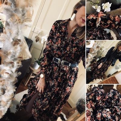 Robe longue Paula imprimée velours