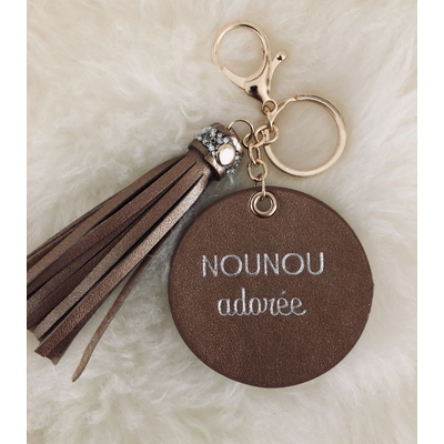 "Porte clés ""Nounou adorée"""