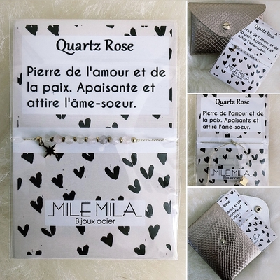 """Bracelet en Acier """"Pierre de l'amour et de la paix"""""""