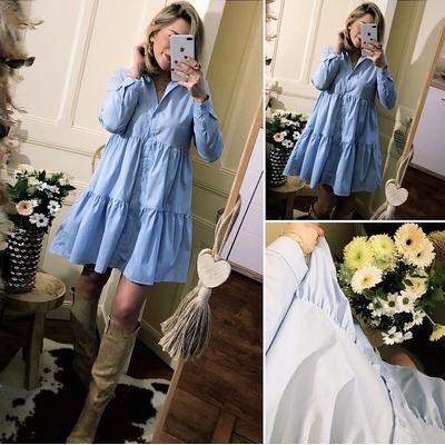Robe chemise bleu Gaby