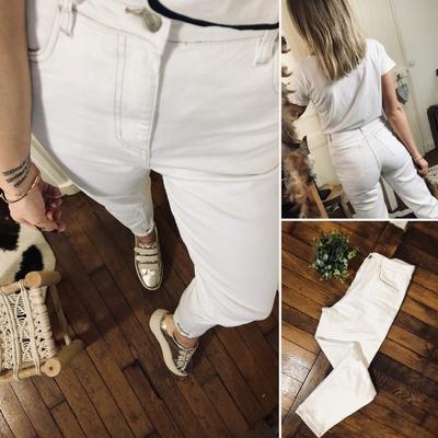 Jeans Mom blanc Lili