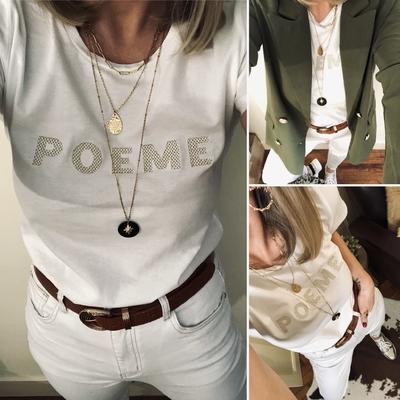 Tee-shirt POEME gold