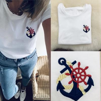 Tee-shirt Ancre marine