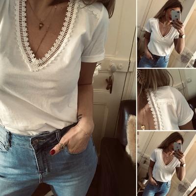 Tee-shirt Romane blanc
