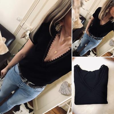 Tee-shirt Romane noir