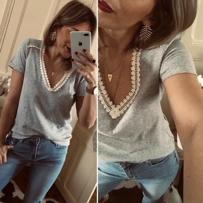 Tee-shirt Romane gris