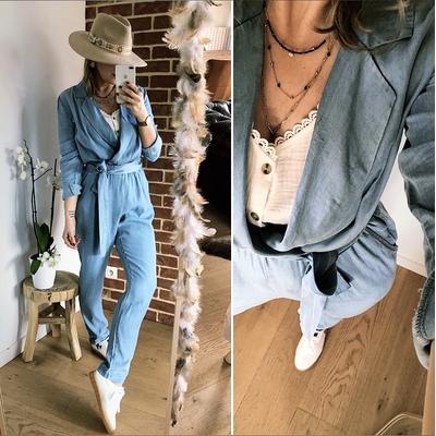 Combinaison Danaelle bleu jean