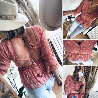 Blouse Ness rose