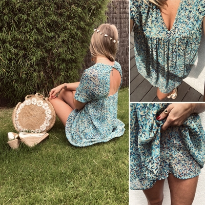 Robe Combishort Hector turquoise