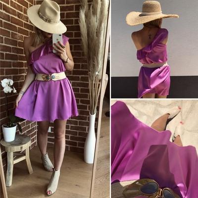 Robe Stalie satinée violette