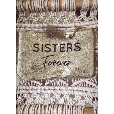Grand porte monnaie doré  «Sisters Forever»