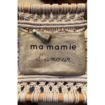 Grand porte monnaie doré «Ma mamie d'amour»